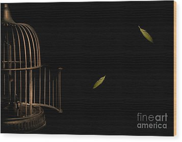 Freedom Wood Print by Jan Piller