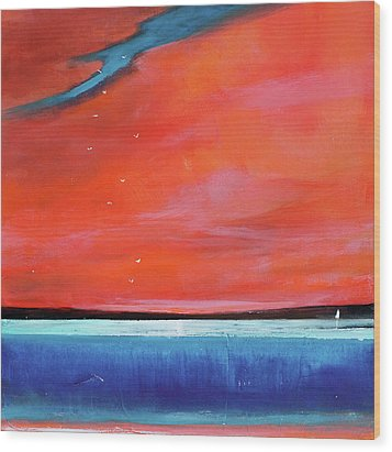 Freedom Journey Wood Print by Toni Grote