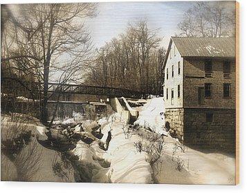 Freedom Mill Stream Wood Print