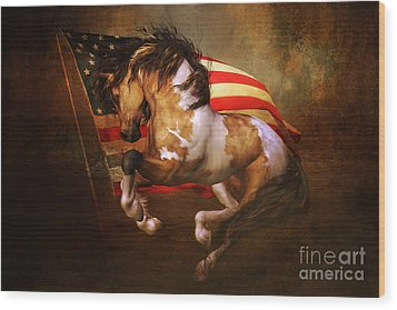 Freedom Run Wood Print by Shanina Conway
