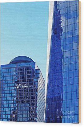 Wood Print featuring the photograph Freedom Tower And 2 World Financial Center by Sarah Loft