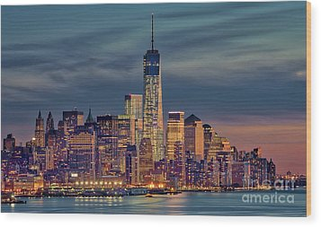 Freedom Tower Construction End Of 2013 Wood Print