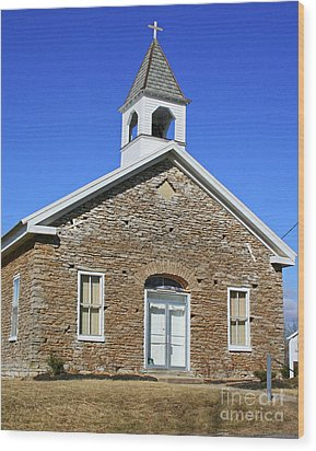 Freedonia Baptist Church Wood Print