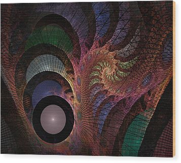 Freefall - Fractal Art Wood Print by NirvanaBlues