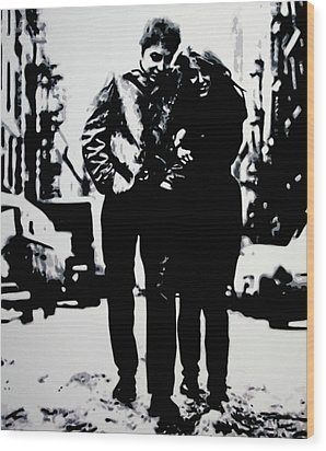 Freewheelin Wood Print by Luis Ludzska
