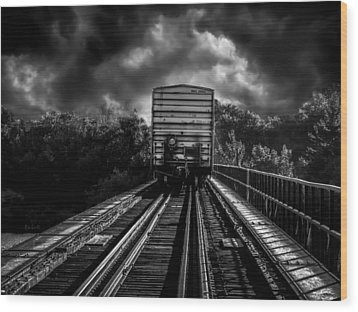 Freight Train Blues Wood Print by Bob Orsillo