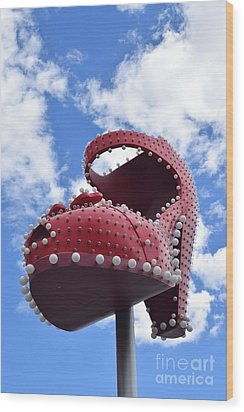 Fremont St. Shoe Wood Print