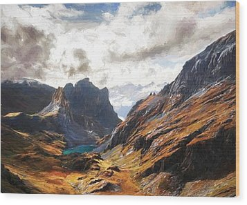 French Alps Wood Print
