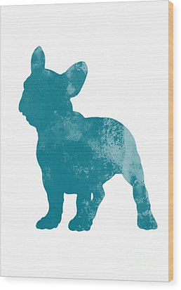 French Bulldog Fine Art Illustration Wood Print by Joanna Szmerdt