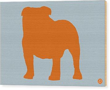 French Bulldog Orange Wood Print by Naxart Studio