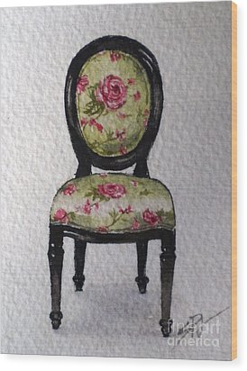 French Chair Wood Print