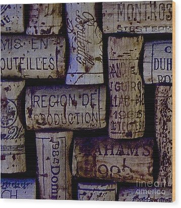 French Corks Wood Print by Anthony Jones