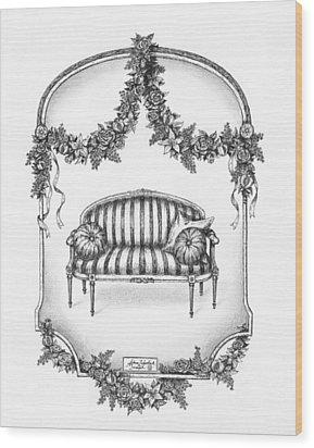 French Country Sofa Wood Print by Adam Zebediah Joseph