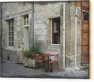 French Countryside Corner Wood Print