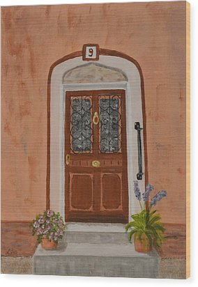French Door Number Nine  Wood Print by Nancy Otey