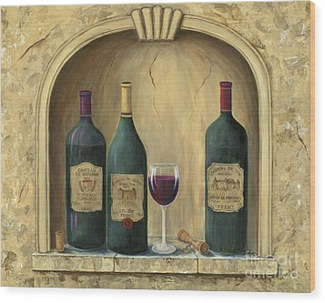 French Estate Wine Collection Wood Print by Marilyn Dunlap