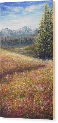 French Fields Wood Print by Ann Marie Bone