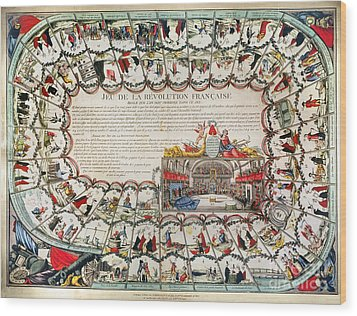 French Game Board, 1791 Wood Print by Granger