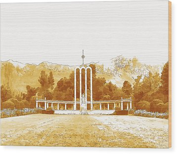 French Huguenot Monument In Franschhoek  Wood Print by Jan Hattingh