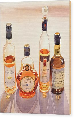 French Liqueurs Wood Print by Mary Helmreich