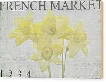 French Market Series C Wood Print by Rebecca Cozart