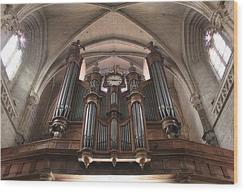 French Organ Wood Print by Christin Brodie