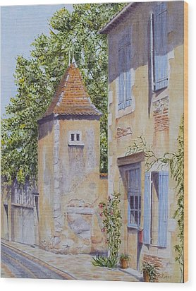 French Pigeonnier Wood Print by Frances Evans