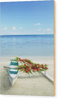 French Polynesia, Huahine Wood Print by Kyle Rothenborg - Printscapes