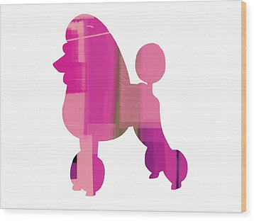 French Poodle Wood Print by Naxart Studio