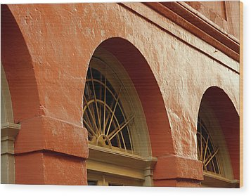 Wood Print featuring the photograph French Quarter Arches by KG Thienemann