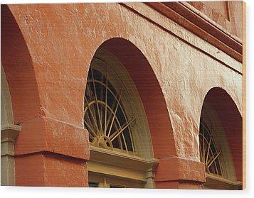 French Quarter Arches Wood Print by KG Thienemann