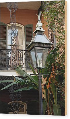 Wood Print featuring the photograph French Quarter Courtyard by KG Thienemann