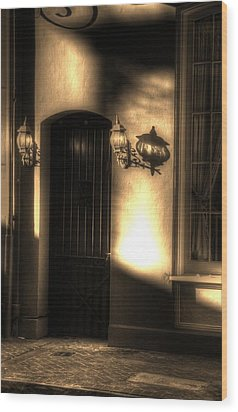 French Quarter Door Wood Print by Greg and Chrystal Mimbs