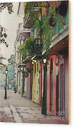French Quarter New Orleans Wood Print by Linda  Parker