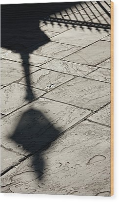 Wood Print featuring the photograph French Quarter Shadow by KG Thienemann