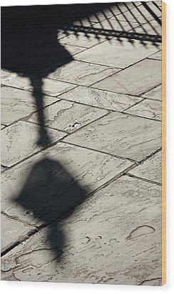 French Quarter Shadow Wood Print by KG Thienemann
