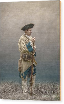French Soldier French And Indian War Wood Print by Randy Steele