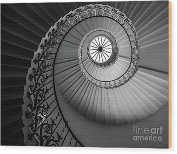 French Spiral Staircase 1 Wood Print by Lexa Harpell