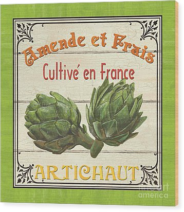 French Vegetable Sign 2 Wood Print by Debbie DeWitt