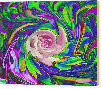 French Wild Rose Wood Print by Rose Guay