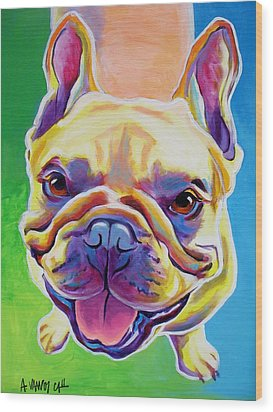 Frenchie - Ernest Wood Print by Alicia VanNoy Call