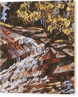 Frenchtown Creek Wood Print