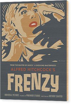 Frenzy - Thriller Noir Wood Print by Bill ONeil