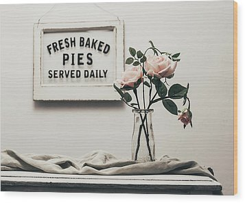 Fresh Baked Wood Print by Kim Hojnacki