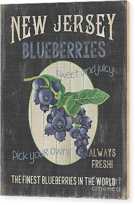 Wood Print featuring the painting Fresh Berries 1 by Debbie DeWitt