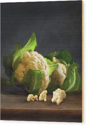Fresh Cauliflower Wood Print