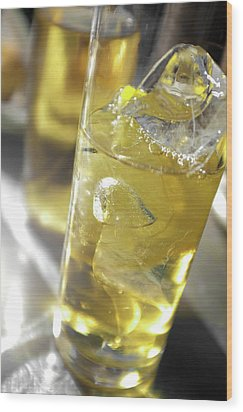 Wood Print featuring the photograph Fresh Drink With Lemon by Carlos Caetano
