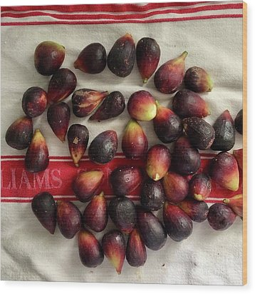 Wood Print featuring the photograph Fresh Figs by Kim Nelson