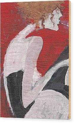 Wood Print featuring the painting Fresh Flesh by Maya Manolova