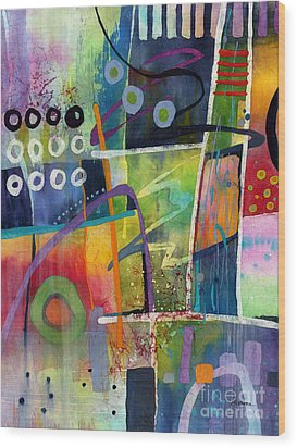 Wood Print featuring the painting Fresh Jazz by Hailey E Herrera